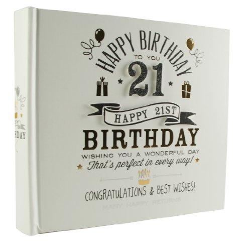 Women Men 21st Birthday gift idea Signography 21st Birthday Photo Album