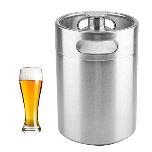 Mini Bierfass, tragbares Bier Craft Barrel, Edelstahl Bierzubehör hält Bier Doppelgriffe für Home Camping Picknick