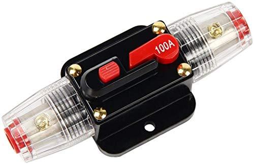 Movilideas 12V-24V DC Interruptor de Ajuste Manual En Línea de Circuito Automático Interruptor Fusible, 50A/60A/80A/100A Disyuntor Caravana Coche Protección (100 Amp)