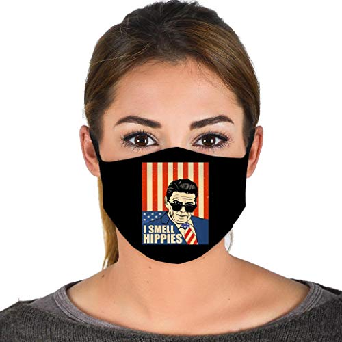 Ronald I Smell Hippies Reagan US President America Flag - P Face Mask Balaclavas Black