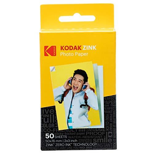 Kodak Zink Photo Paper, 50 x 76 mm, Sofortbildfilm, 50 Stück