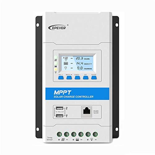 EPEVER® 40A MPPT Controlador de Carga Solar Voltaje del Sistema de Identificación Automático de 12V/24V con Pantalla LCD y Puerto USB - TRIRON 4210N