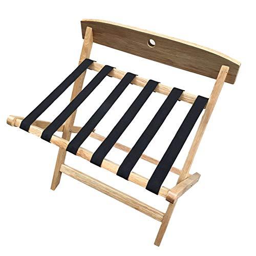 Lowest Price! BAIYING Luggage Rack Wooden Luggage Rack, Bedroom Hotel Luggage Rack Hanger Bedside Sh...