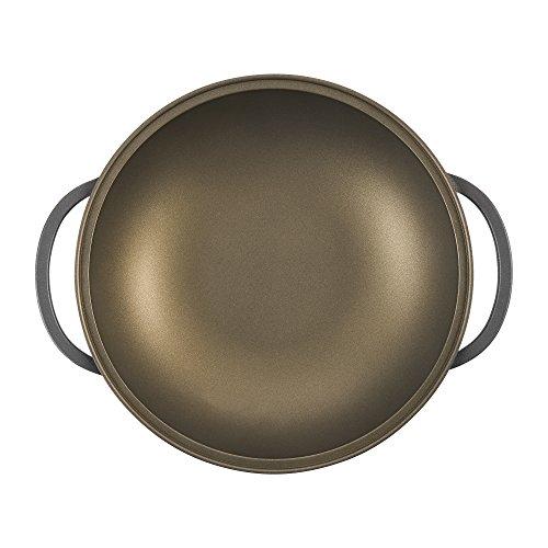 Berndes 031539 Vario Click Induction Plus Wok con Tapa de Cristal y Accesorios, 32 cm