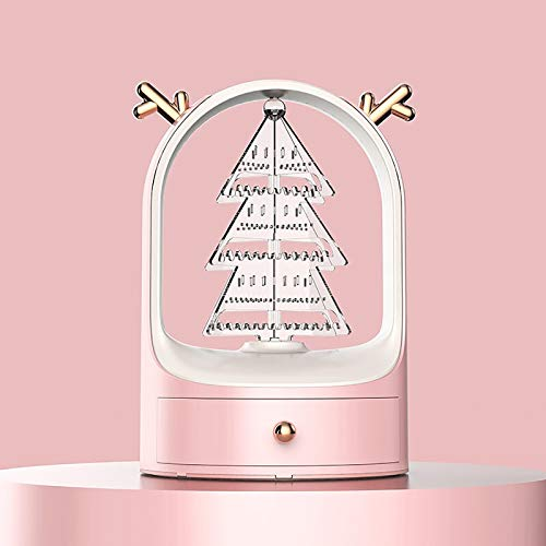 MYALQ Caja de Joyería, Mini Caja Almacenamiento Portable para Joyería, Organizador de Joyas con Cerradura con 1 Cajones, para Joyas Collares Pendientes Aretes Pulseras Anillos,Rosado