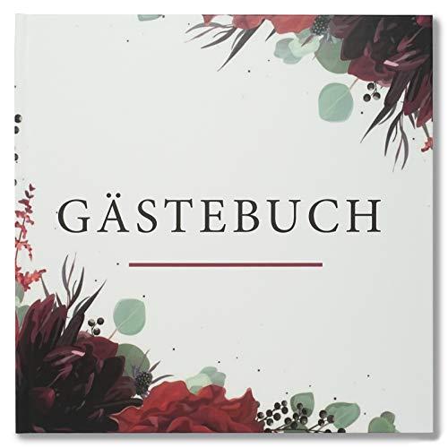 Presentou Gästebuch mit Hardcover 21x21cm   64 weiße Seiten zum selbst gestalten   Fotobuch zur...