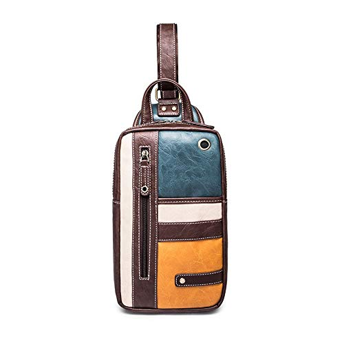 Kaper Go Retro Mini Bolso De Los Hombres Al Aire Libre Ocio Deportes Bolsa De Pecho De Color A Juego Hombro Messenger Bag iPad Mochila Moda