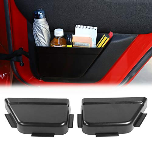 RT-TCZ Rear Door Net Pocket Storage Box Organizer for 2011-2018 Jeep Wrangler JKU 4-Door