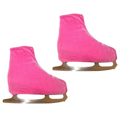 VORCOOL 1 Paar Velvet Eiskunstlauf Schuhe Cover Schlittschuh Skateschuhe Zubehör - Größe S (Rosa)
