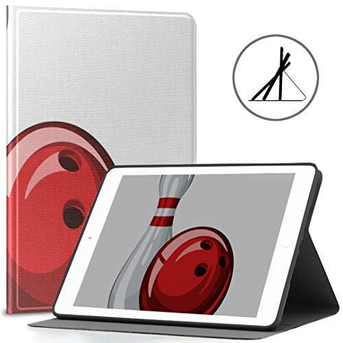 IPad 9,7-Zoll-Abdeckung (Soft Case) Bowling Kegel Red Bowling IPad Air 2/9,7-Zoll-Abdeckung mit automatischer Wake/Sleep-Funktion, geeignet für IPad 9.7