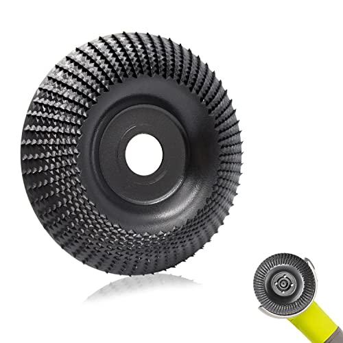 Muela Amoladora Madera 125 mmx22mm, Sweetone Disco Abrasivo Para Amoladora Angular, Discos Madera Amoladora Discos para Amoladoras Angulares de Carburo de Tungsteno,molienda tallado