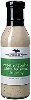 Terrapin Ridge Farms Dressing, Sweet Red Onion White Balsamic, 12 Ounce