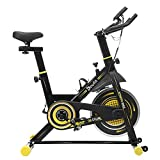 Indoor Cycling Bike Stationary, Doufit EB-06 Smooth Exercise Bike for Home Cardio Gym Workout with LCD Monitor and Clip in Pedals