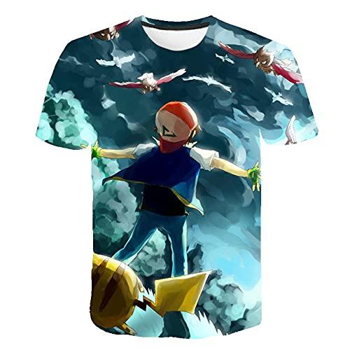 Stretch Camiseta para Hombre,Camiseta 3DT de Manga Corta de la Camiseta de la impresión de la Camiseta Piccus Pareja de la camiseta-22149_4XLARGE