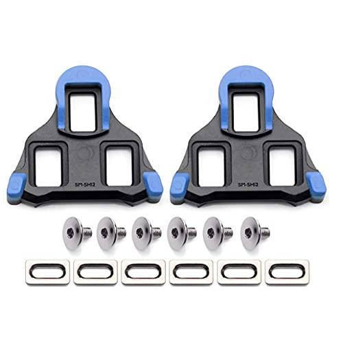 EElabper Clases de Bicicleta de Carretera Sin resbalones Pedal de Bicicletas Placas de Bloqueo Compatible con SPD SH10 SH11 SH12 Zapatos