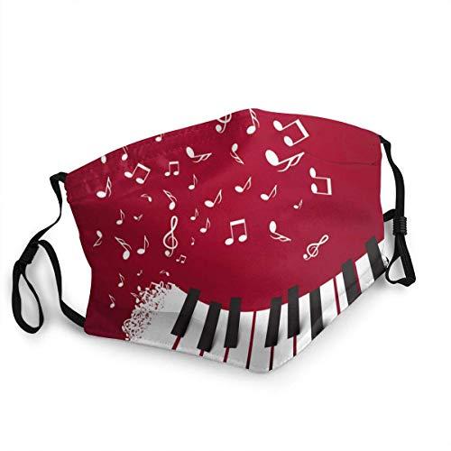 Klaviertasten Tastatur mit Noten Musiksymbol auf staubdichtem waschbarem wiederverwendbarem Mundschutz Gesichtsschutz Warm Winddicht