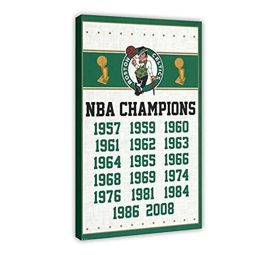 Póster del equipo de baloncesto Boston Celtics - Champions 2013 - Póster de 40 x 60 cm, marco