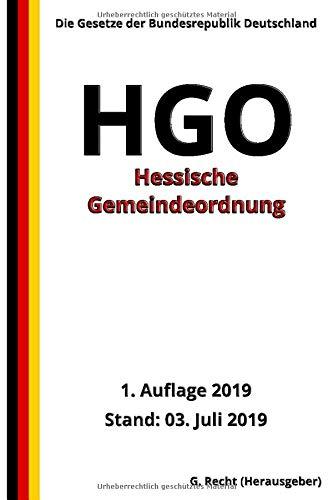 Hessische Gemeindeordnung - HGO, 1. Auflage 2019