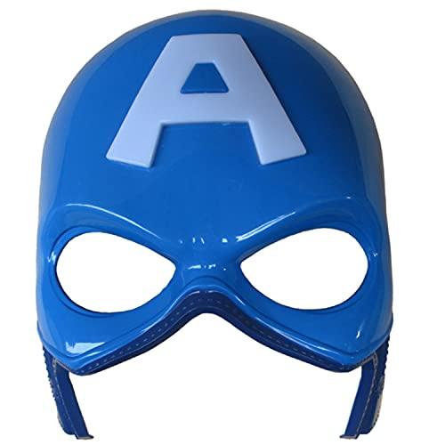 Morningsilkwig Superheld Halloween Maske Avengers Captain America Kostüm Masken Kinder Party Masken (Blau, S)