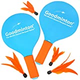 VIAHART Goodminton - the Easiest Badminton Racquet Set - for Indoors and Outdoors - a Fun and Active Racket Game for Boys, Girls and People of all Ages