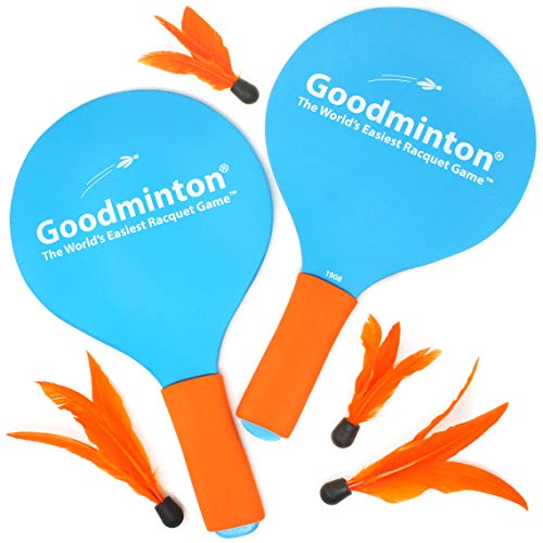 VIAHART Goodminton | The World#039s Easiest Racket Game | an Indoor Outdoor YearRound Fun Paddle Game Set for Boys Girls and People of All Ages