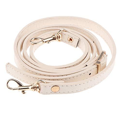 Correa de Bandolera de Cuero Ajustable Cuerda de Reemplazo Corchetes de Langosta - Beige, Tal como se Describe