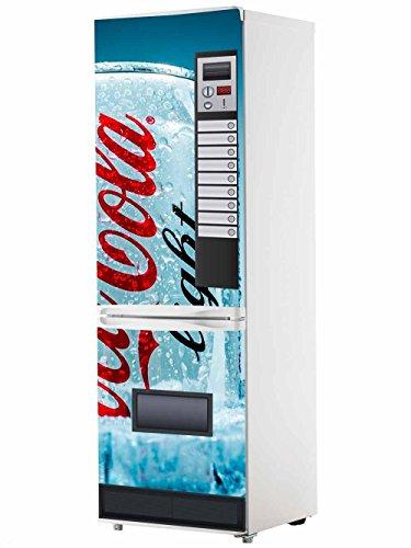 Vinyl Stickers Verkaufsautomat Cola-Cola Light-Blau für Kühlschrank.   Kühlschrank Aufkleber   Verschiedene Maße 185 x 60 cm   Klebstoffbeständig und einfache Anwendung   Stilvoller Design-dekorativer