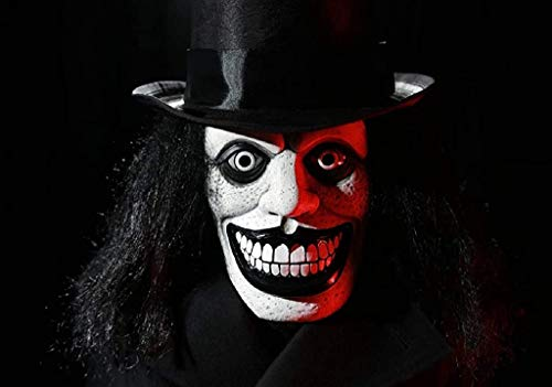 Babadook Cosplay Mask with Hairs Halloween Horror Clown Costume Mask Queer Head Wear for Men Women Hats Not Included…
