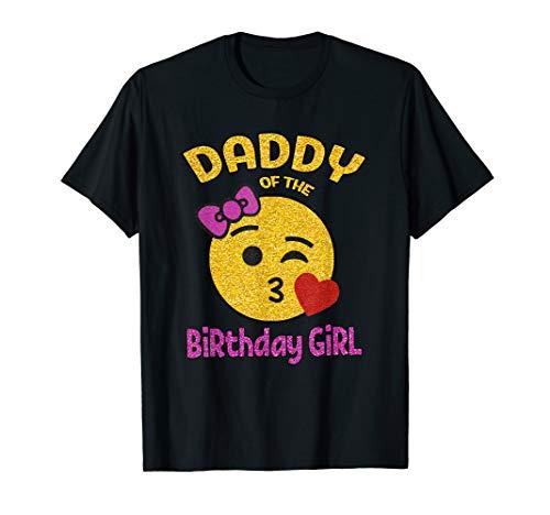 Daddy of the Birthday Girl Emoji Pink Shirt Kiss Heart Tee T-Shirt