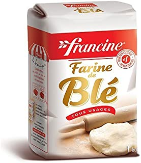 Francine Farine de Ble Tous Usages - French All Purpose Wheat Flour - 2.2 lbs (Pack Of  2)