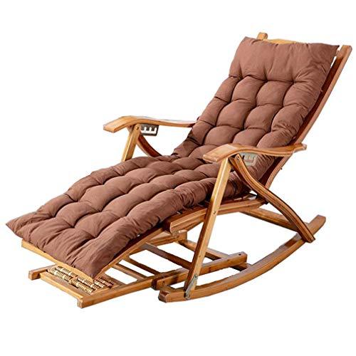 Sonnenliege Relaxstuhl Garten Outdoor Schaukelstuhl Max.150kg Klappbar Relaxsessel Schwingstuhl mit Auflage Armlehne für Erwachsene Kinder Balkon Wohnzimmer