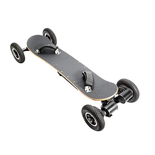 SSCYHT Offroad-Elektro-Skateboard Mit Schutzausrüstung, Zwei Motorisierten 1650-W-Mountain-Longboards, Max. 40 Km/H, 8-Lagiger Ahorn, All-Terrain, Ferngesteuert