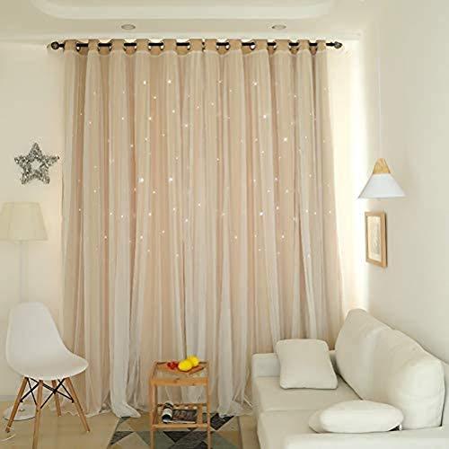 2 Stück Vorhang Kinderzimmer Mädchen...