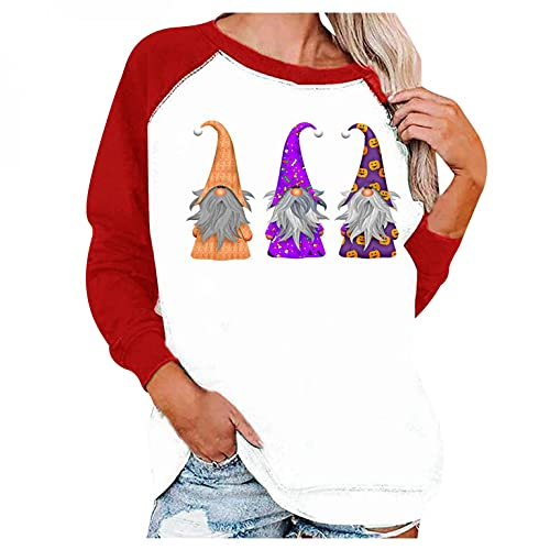 Dasongff Tops Femme Grande Taille à Manches Longues T-Shirts Col Rond Tunique Haut Imprimé Sportswear Gilets de Sport Pullover Décontractée Maillot De Corps Streetwear Tendance