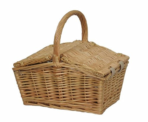 Red Hamper Piccola Doppia Lidded Picnic Basket