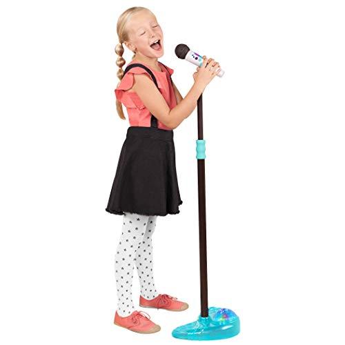 B. toys – Spielzeugmikrofon mit Ständer und Diskolicht – Mikrofon mit Bluetooth für Smartphone Verbindung für Kinder ab 3 Jahren (3 Teile)