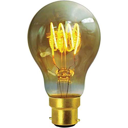Girard Sudron 716666-LED GLS A60 LED-gloeilamp, E27, Edison-fitting, 200 lumen, dimbaar, 4 W, barnsteenkleuren