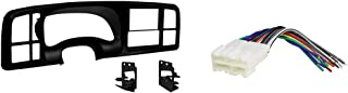 Metra DP-3002B Double DIN Dash Kit for 1999-2002 GM Full-Size Trucks/SUV's (Matte Black) & SCOSCHE GM02B Car Speaker Wire Harness Aftermarket Stereo Connector Kit for Select 1988-2005 GM Vehicles