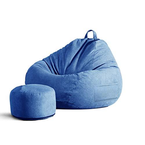 SD Pouf Poire/Bean Bag Chaise/canapé/avec Repose-Pied/avec Mousse Ultra Confortable/pour Enfants Et Adultes/Convient pour Intérieur Et Extérieur/90 * 110 cm