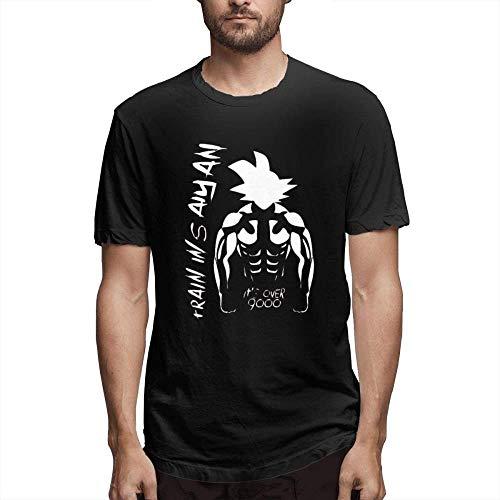 Dragon Ball It's Over 9000 Vegeta Mens Tee Classic Short Sleeve T-Shirt Black,Goku,Large
