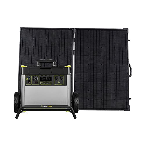 Goal Zero Yeti 3000X Portable Power Station, 2982-Watt-Hour Portable Lithium-Battery Emergency Power Station, Outdoor Portable Generator with Compatible Boulder 200 Briefcase Portable Solar Panel Kit