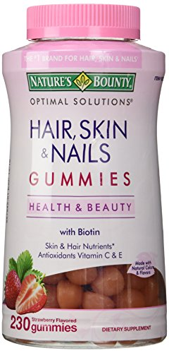 Nature's Bounty Hair Skin and Nails, 230 Gummies, 230 Count (Pack of 1)