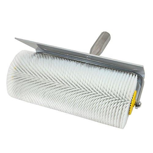 Stachelwalze - Igelwalze - Entlüfterrolle - mit Spritzschutz b= 250mm, l (Stachel) = 31mm - Entlüftungsroller, Entlüftungswalze, Betonentlüfterrolle in Profi-Qualität