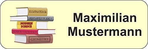 Namensetiketten Schule, Kinderetiketten - 36 Stück, 36 x 12 mm, 1-2 Zeilen beschriftbar (Bücher)