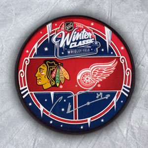 Marian Hossa Signed Blackhawks Hockey Puck - 2009 Winter Classic