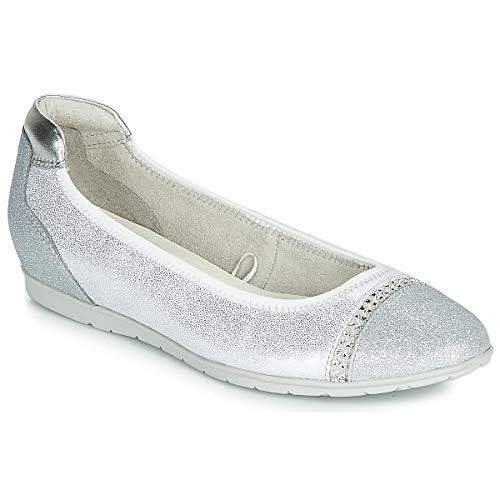 TAMARIS RACAPU Ballerina's dames Wit/Zilver Ballerina's