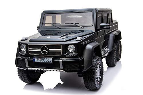 Mercedes G63 AMG XXL Kinderauto Elektroauto Kinderfahrzeug Geländewagen Jeep SUV 4X 35W Motoren 24V Batterie Schwarz