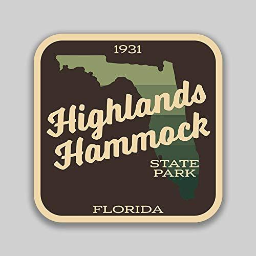 Lplpol Funny 4' Vinyl Decal Sticker Highlands Hammock State Park Florida Decal (2 Pack) for Laptop Water Bottle Phone Car