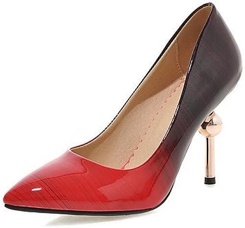 Zormey Chaussures Femmes Talon Chaussures Talons Partie &Amp Robe De Soir¨ e Noir Violet Noir   P¨oche Nous6.5-7 Ue37   Uk4 5-5   Cn37