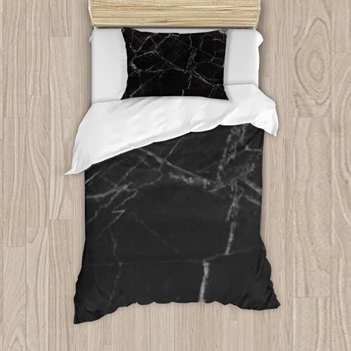 Dachangtui Juego de Cama de poliéster, Marble Wall Texture interiors Marble Texture for Design High Resolution Juego de 3 Piezas, Funda nórdica Suave, Tela de algodón a Juego, Juego de Dos Cam